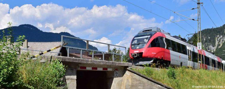 Streckenführung der Mittenwaldbahn (Karwendelbahn)
