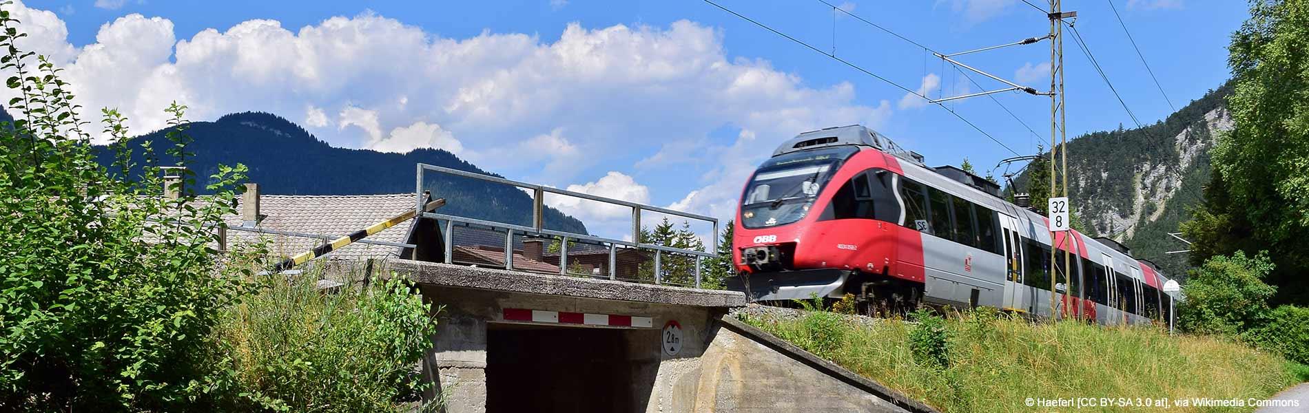 Streckenführung der Mittenwaldbahn